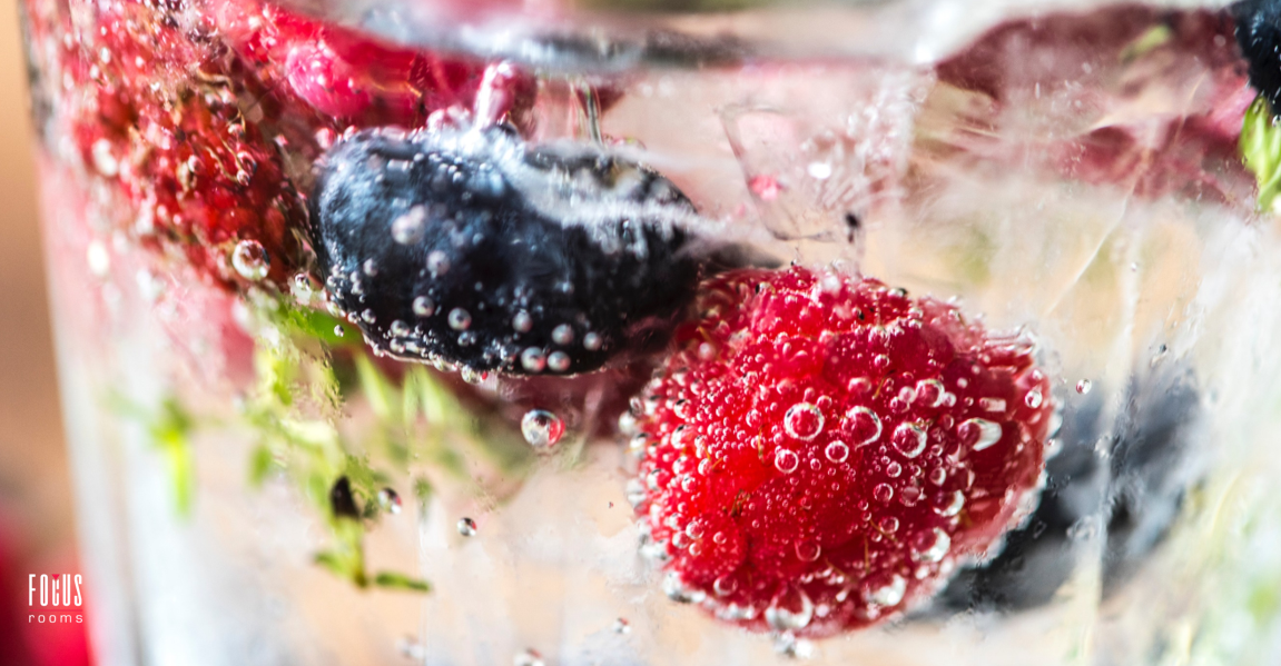 Delicious Berry Infused Water | Focus Rooms