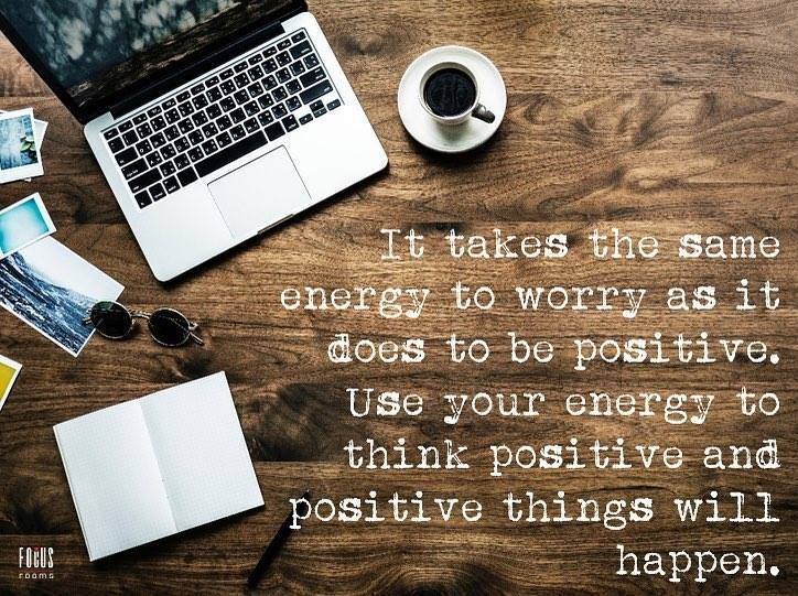 Think Positive - Inspirational Quote | Focus Rooms Venue